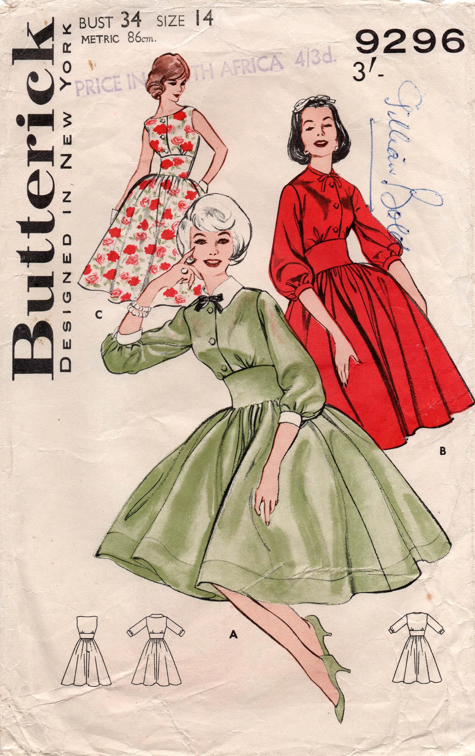 Butterick 9296