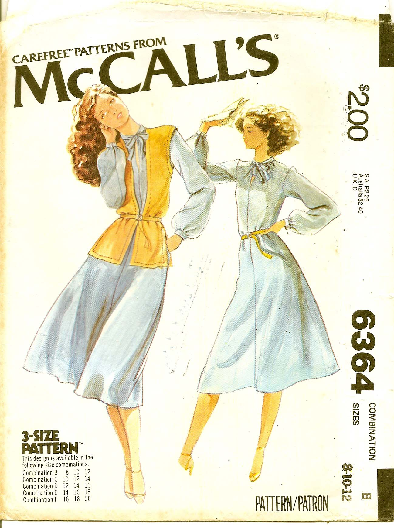 McCall's 6364 A