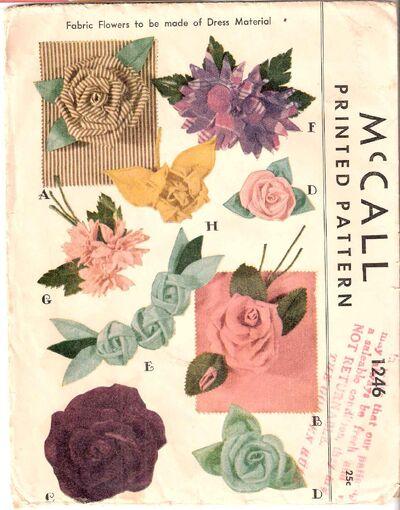 mccall 1246 fabric flowers