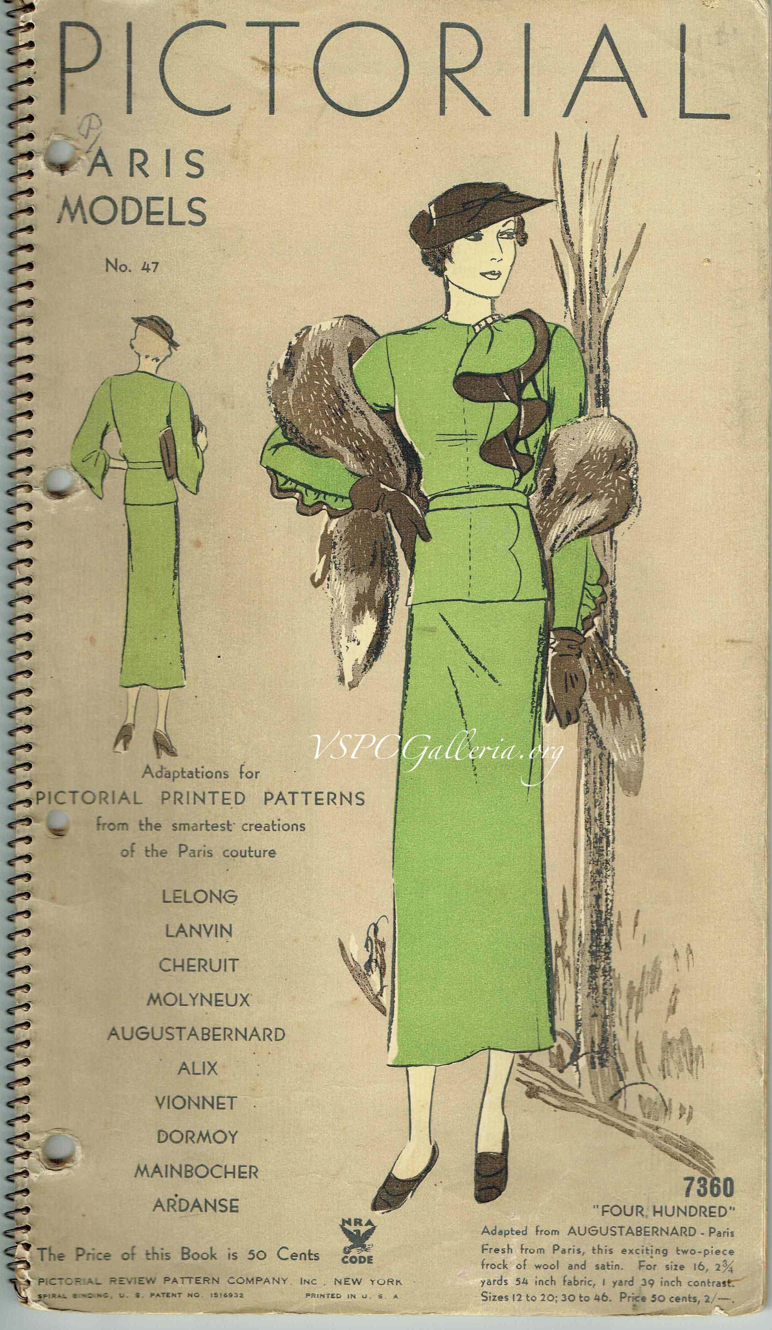 Pictorial Review Paris Models 1934 No. 47