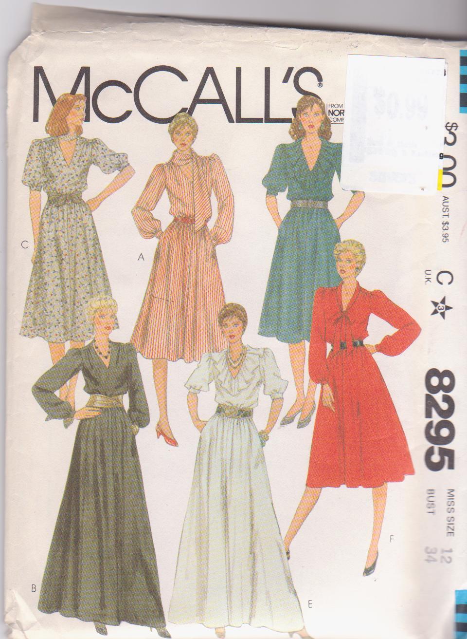 McCall's 8295 A