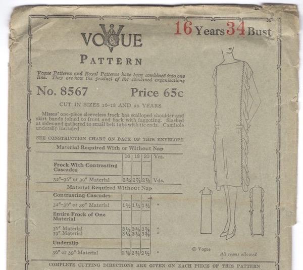 Vogue 8567 A