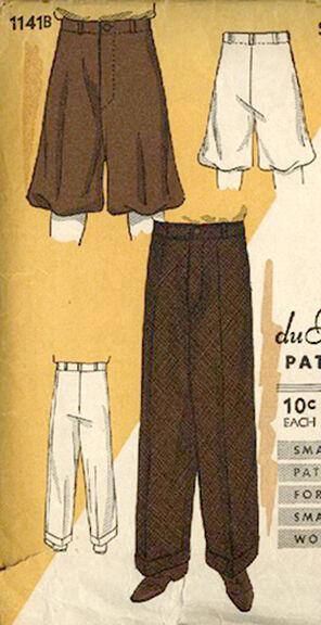 1934 Men's & Boy's Trousers or Knickers