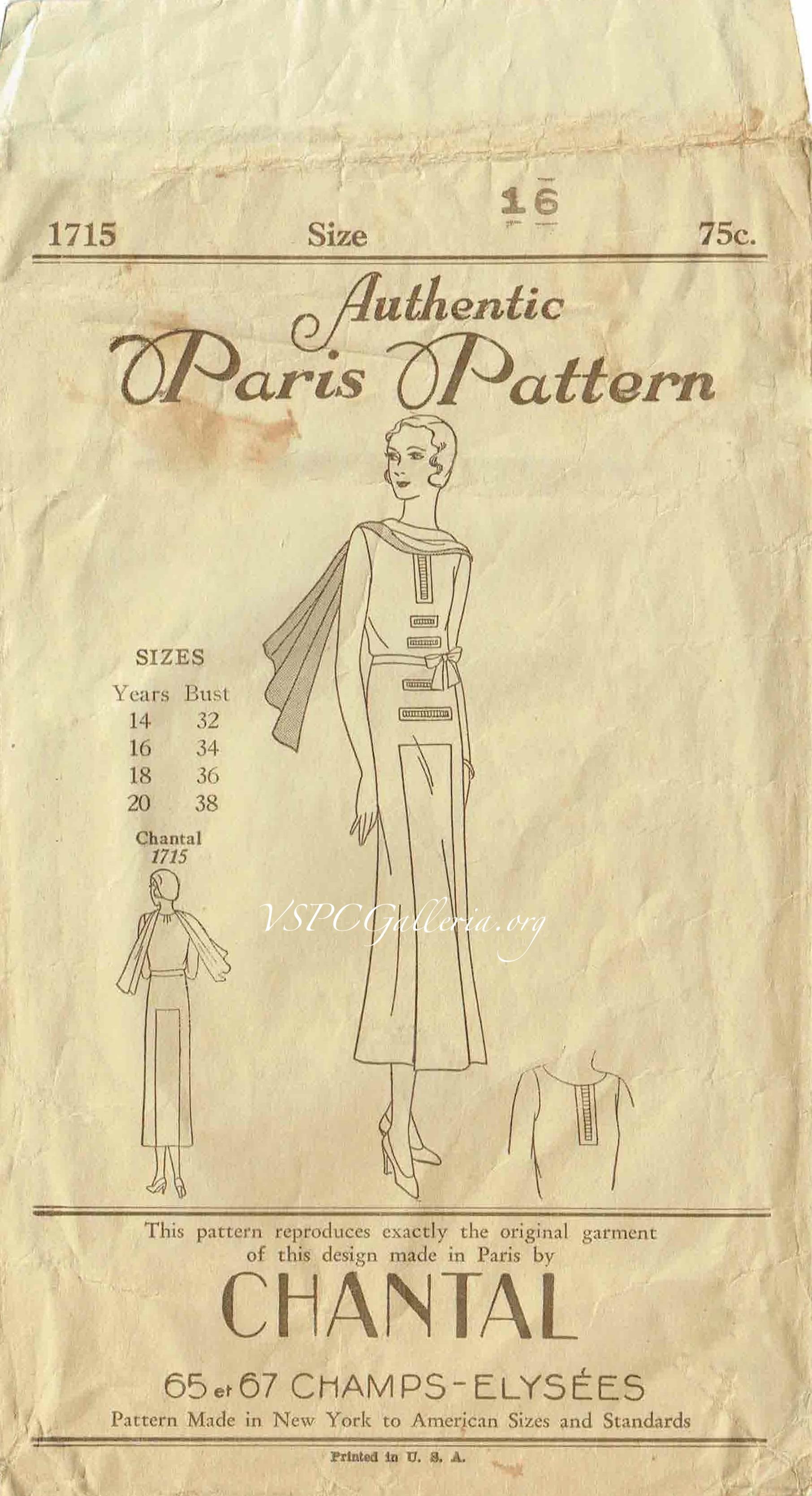 Paris Pattern 1715