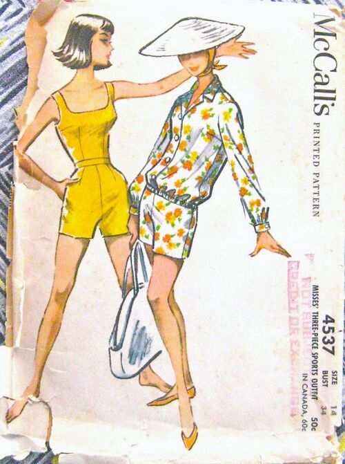 McCall's 4537; ca. 1950s; Women's Shorts, Top and Jacket Pattern