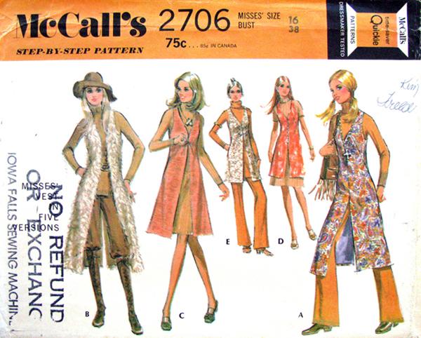 McCall's 2706