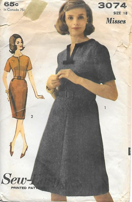 @1963 Misses' Dress - Two Skirts