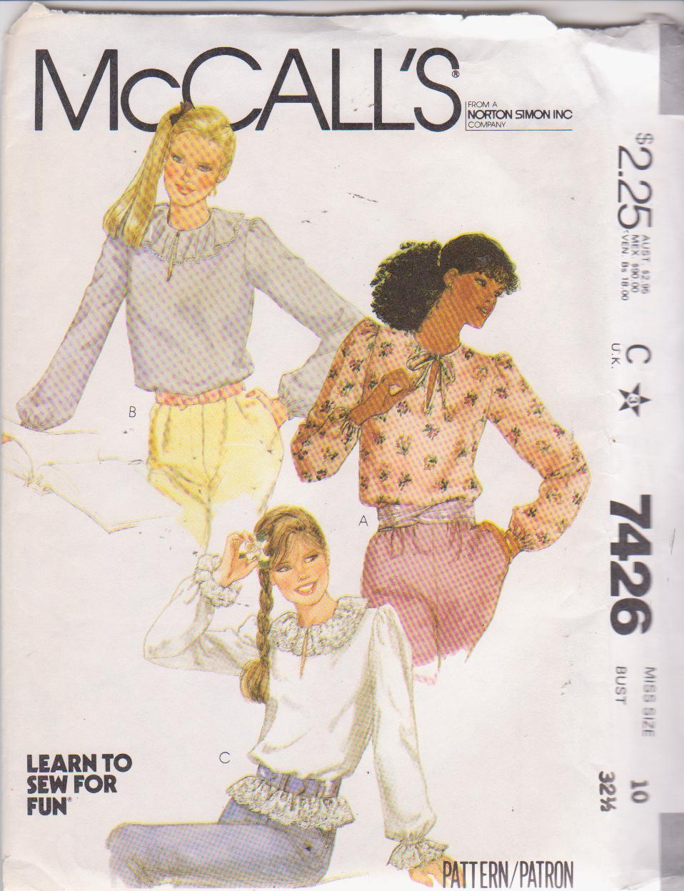 McCall's 7426 A