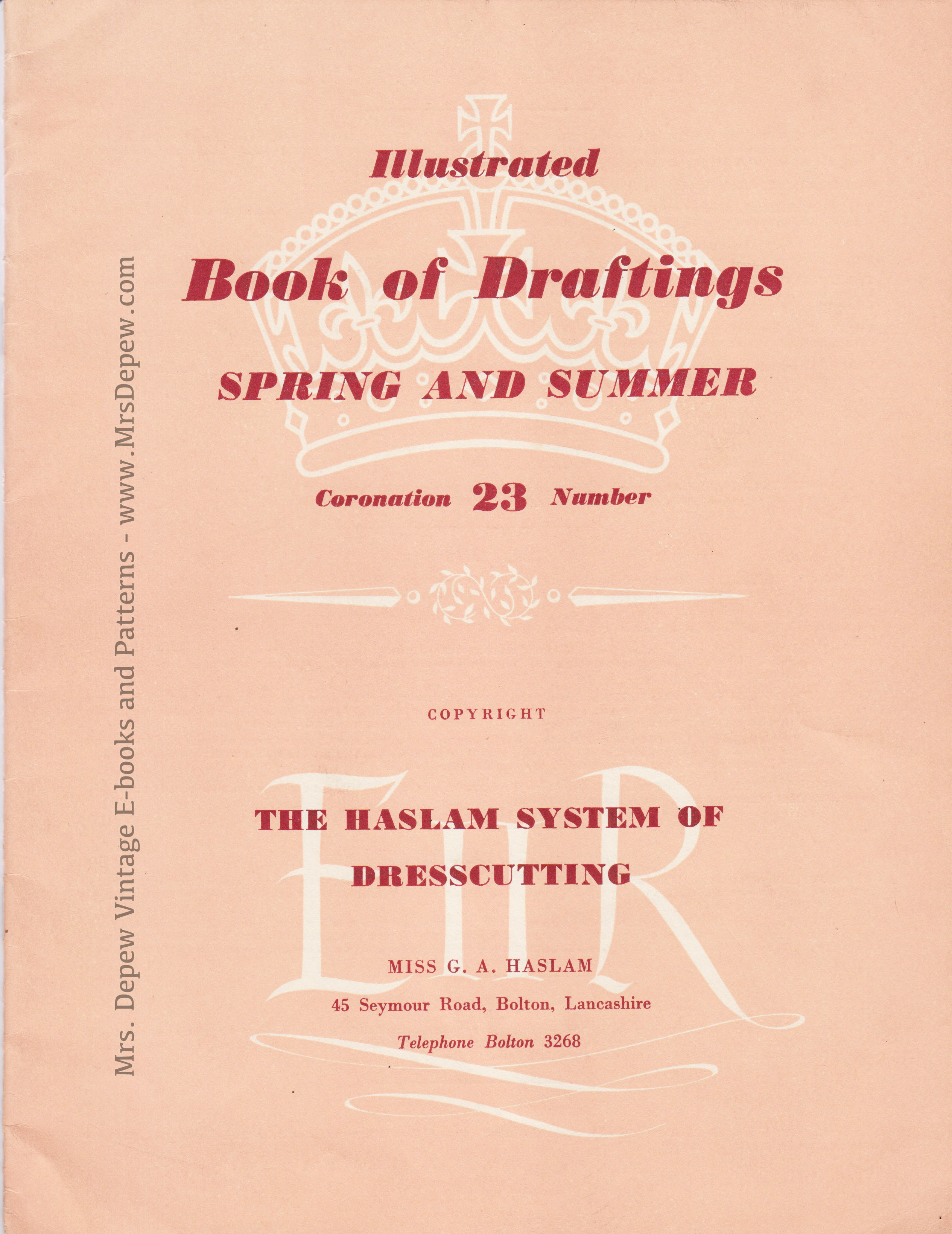 Haslam System of Dresscutting Spring and Summer No. 23