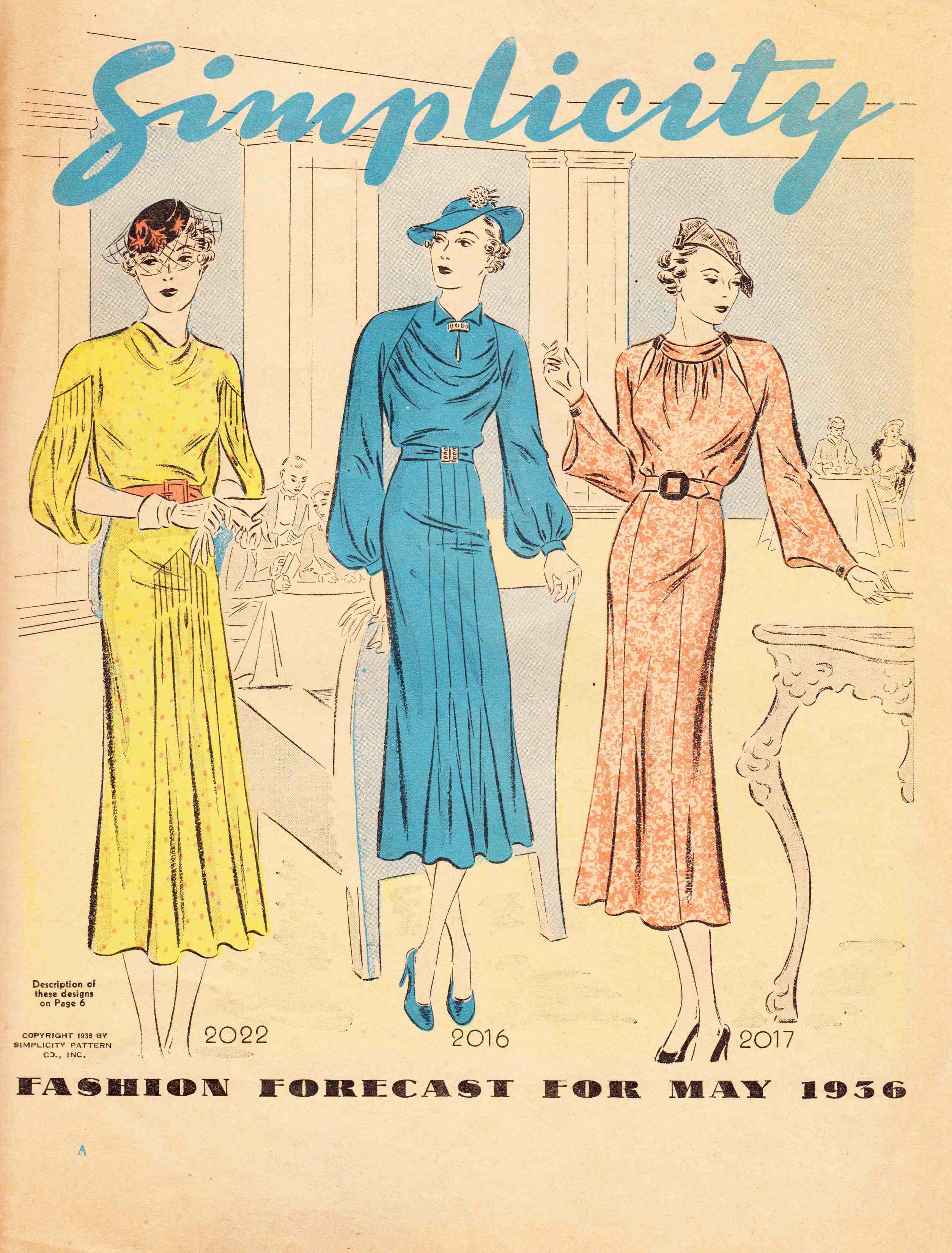 Simplicity Fashion Forecast May 1936