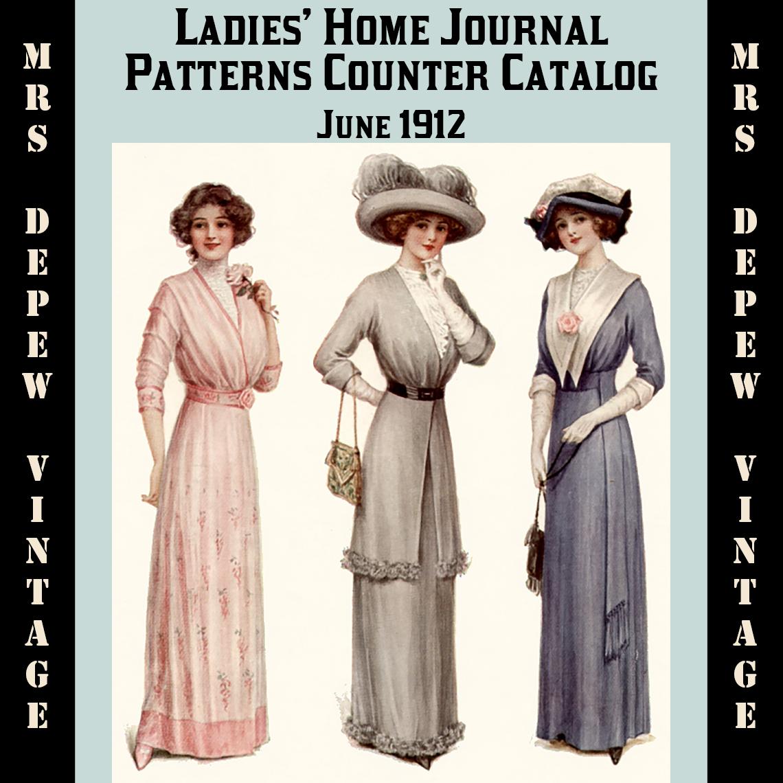 Ladies Home Journal Patterns Counter Catalog Summer 1912