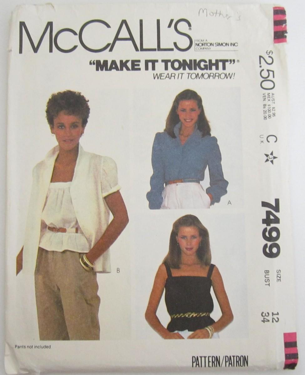 McCall's 7499 A