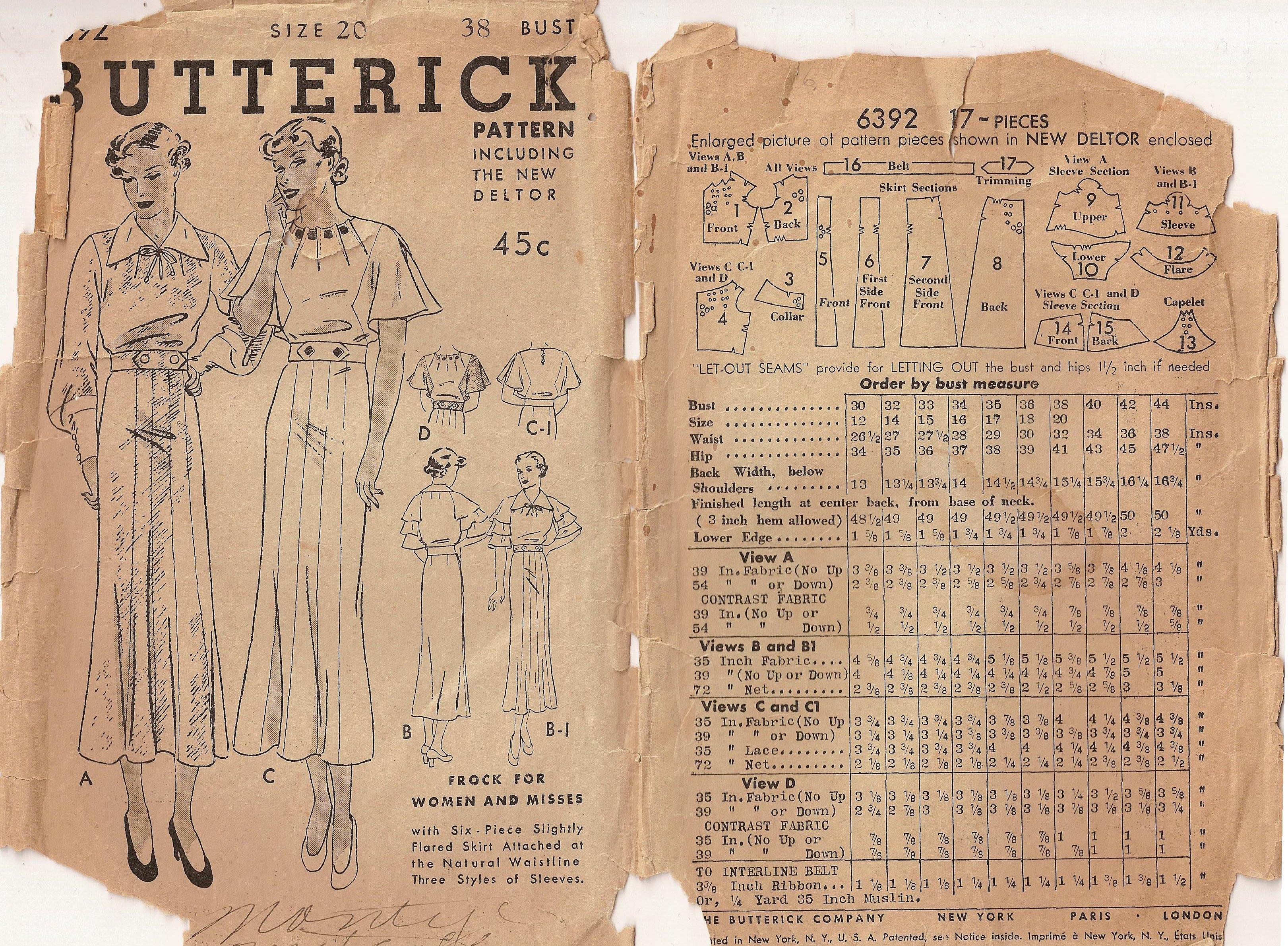 Butterick 6392