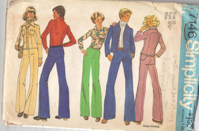 Men's or Misses' Unlined jacket and Pants ©1975