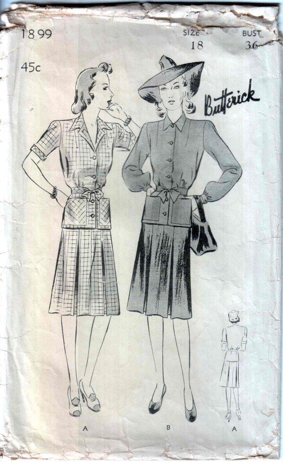 Butterick 1899 A