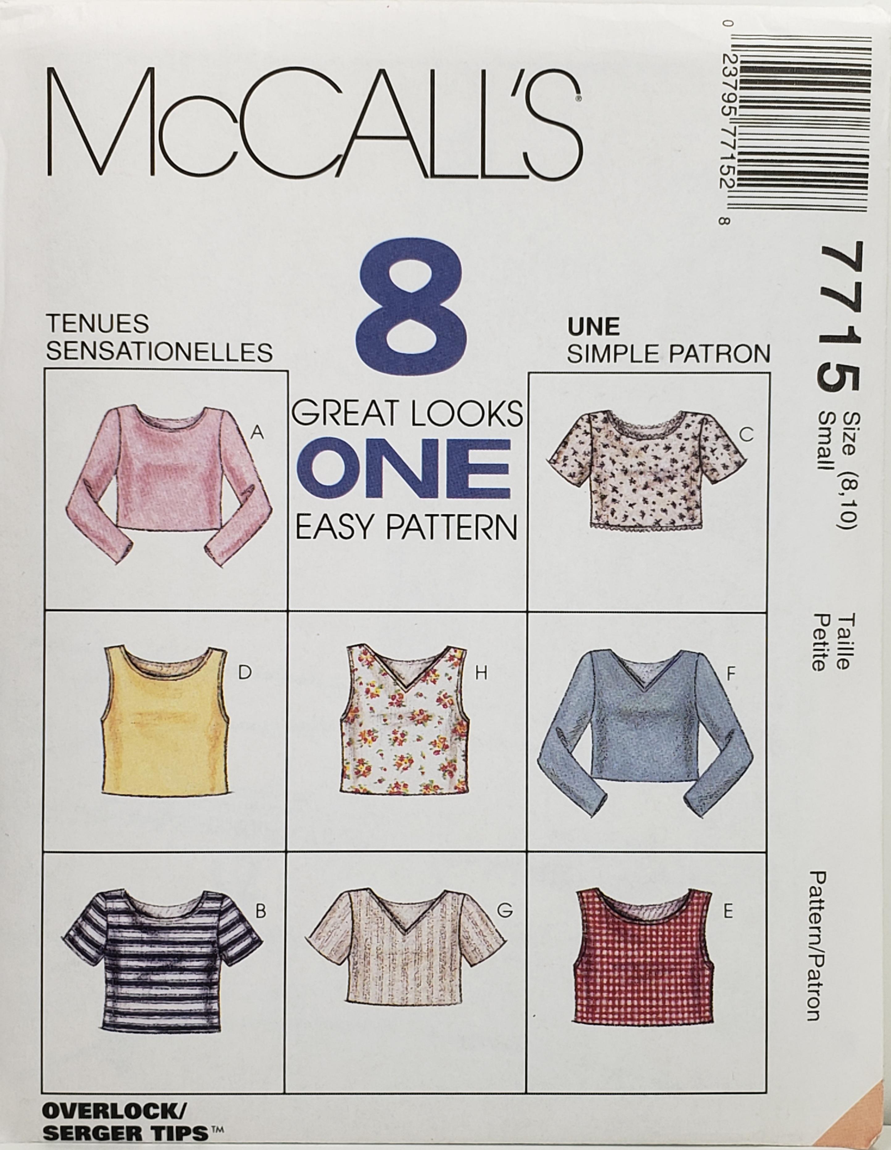 McCall's 7715 A