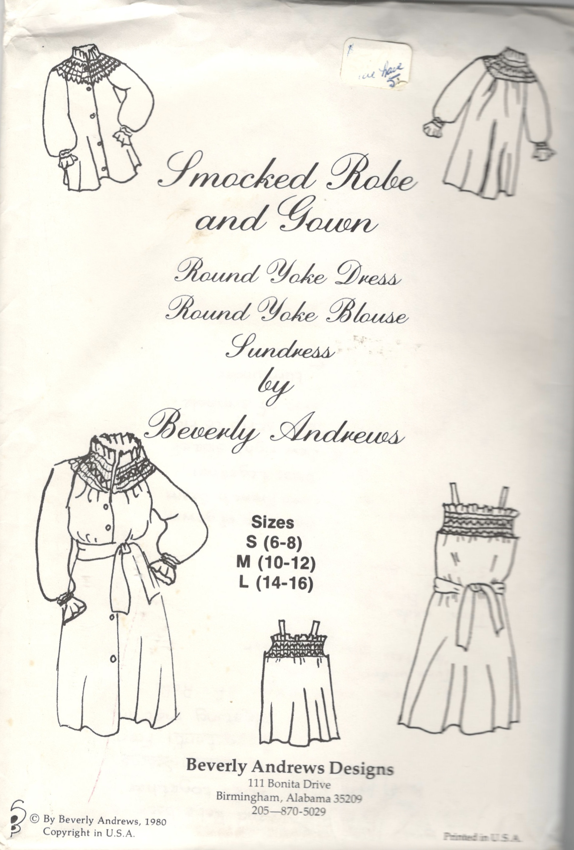 Beverly Andrews Designs Smocked Robe and Gown