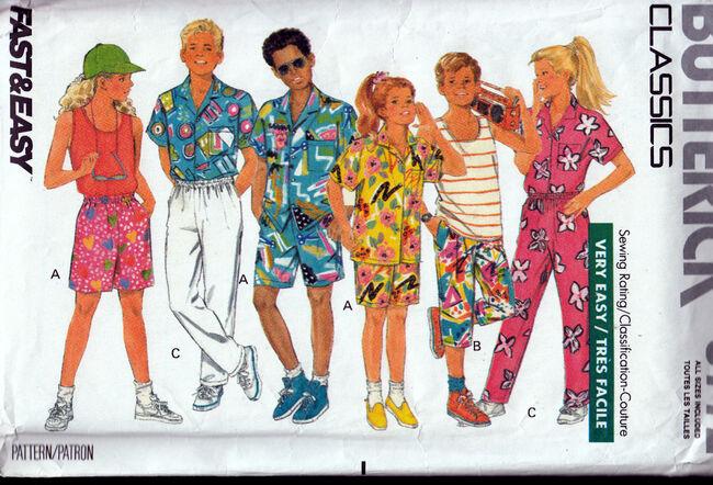 Vintage Sewing Patterns Girls or Boys Separates Penelope Rose at Artfire.jpg