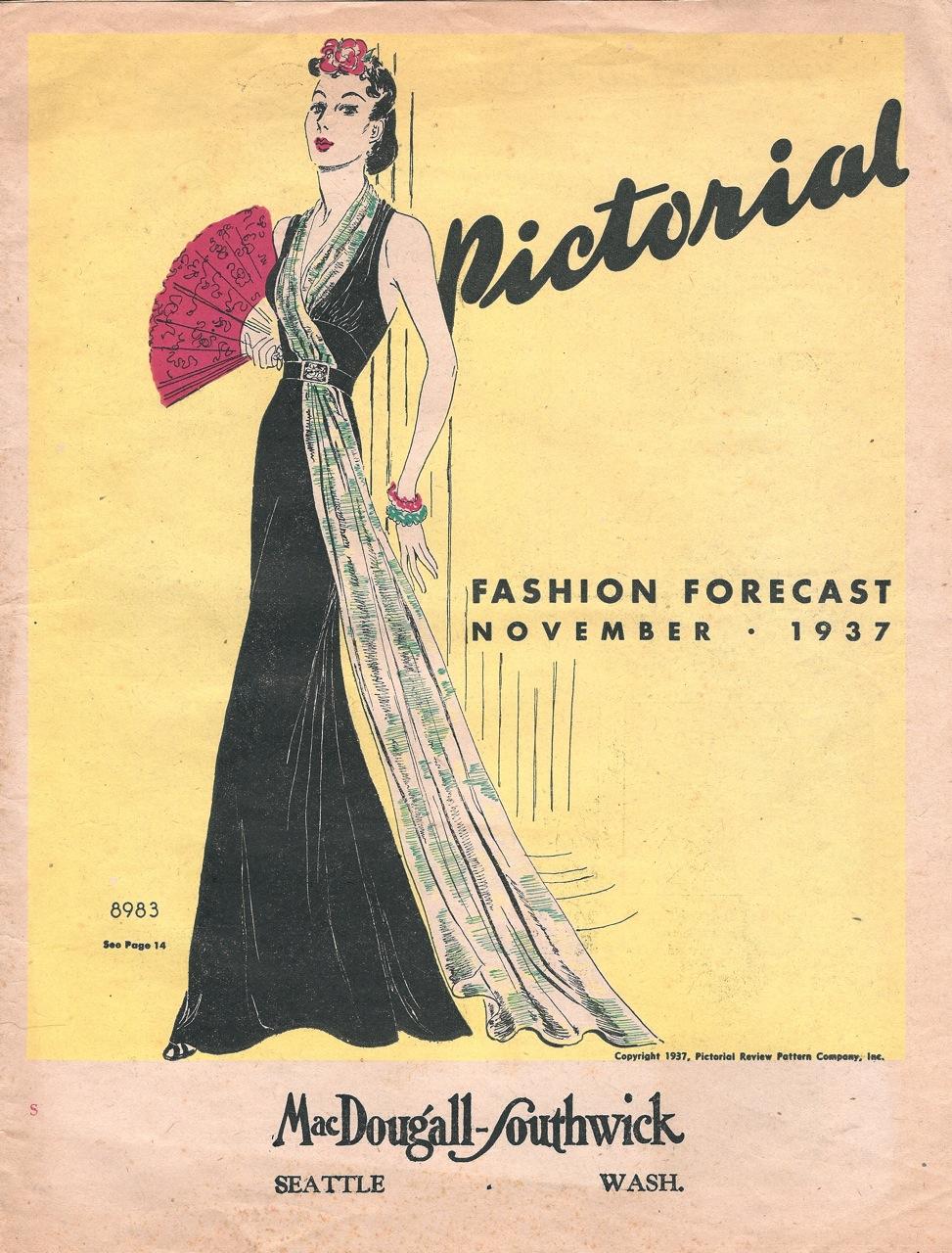 Pictorial Fashion Forecast November 1937
