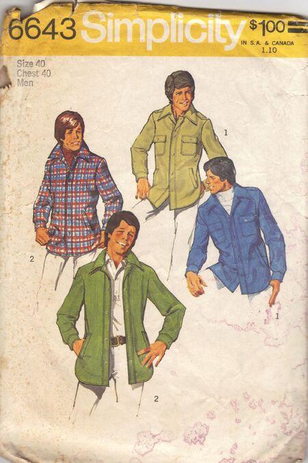 Teen-Boys' and Men's Unlined Shirt-Jacket ©1974