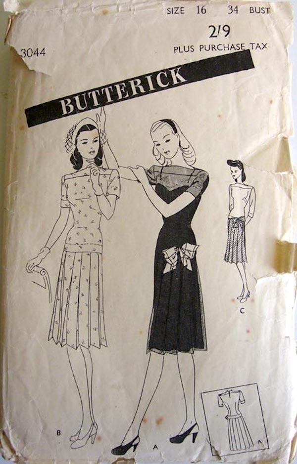 Butterick 3044 A
