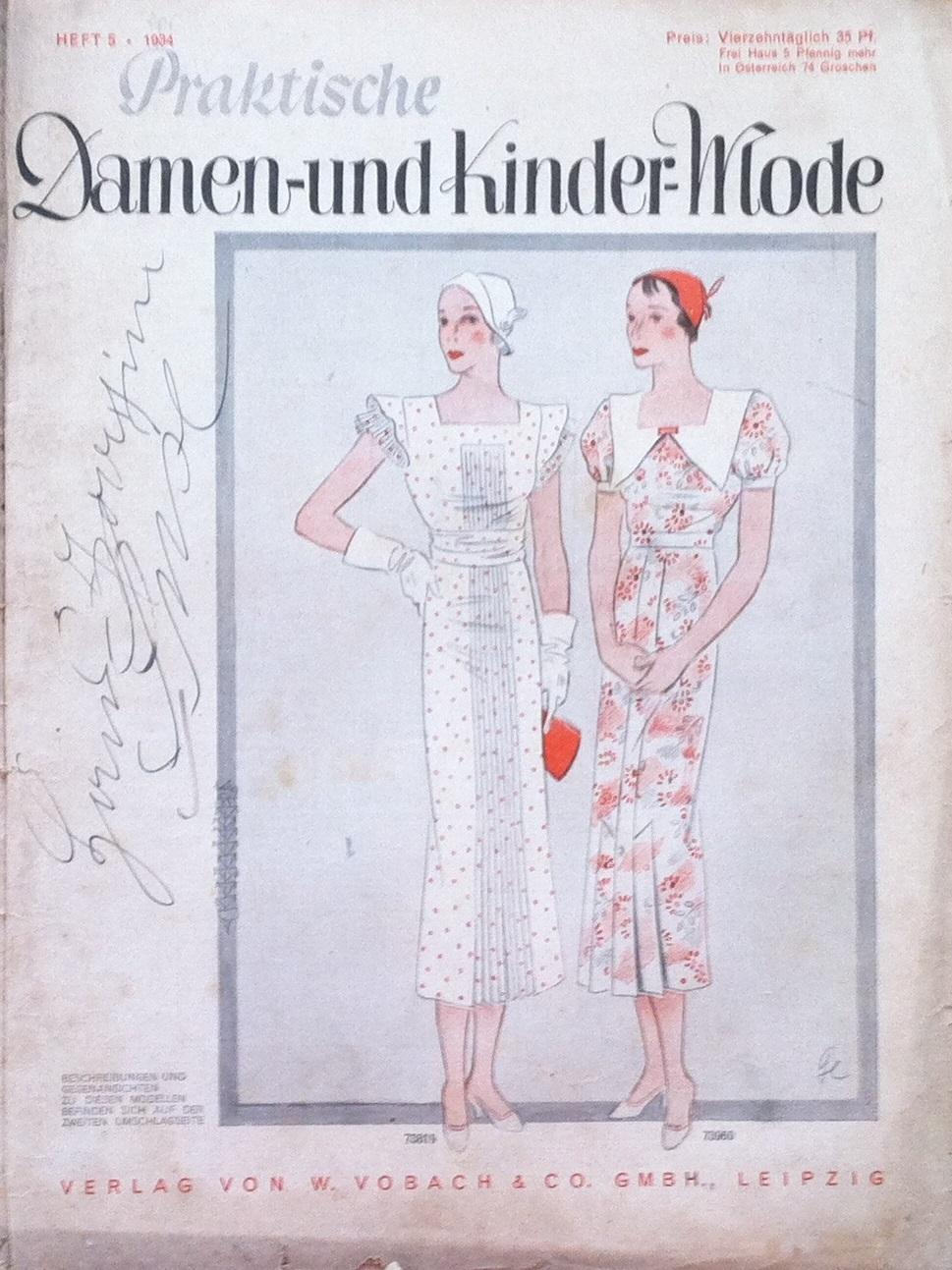 Praktische Damen- und Kinder-Mode No. 5 1934