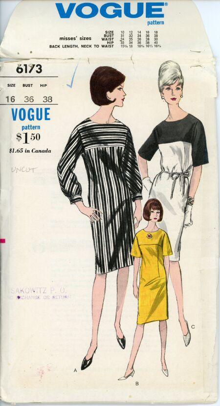 Vogue 6173 One-Piece Dress
