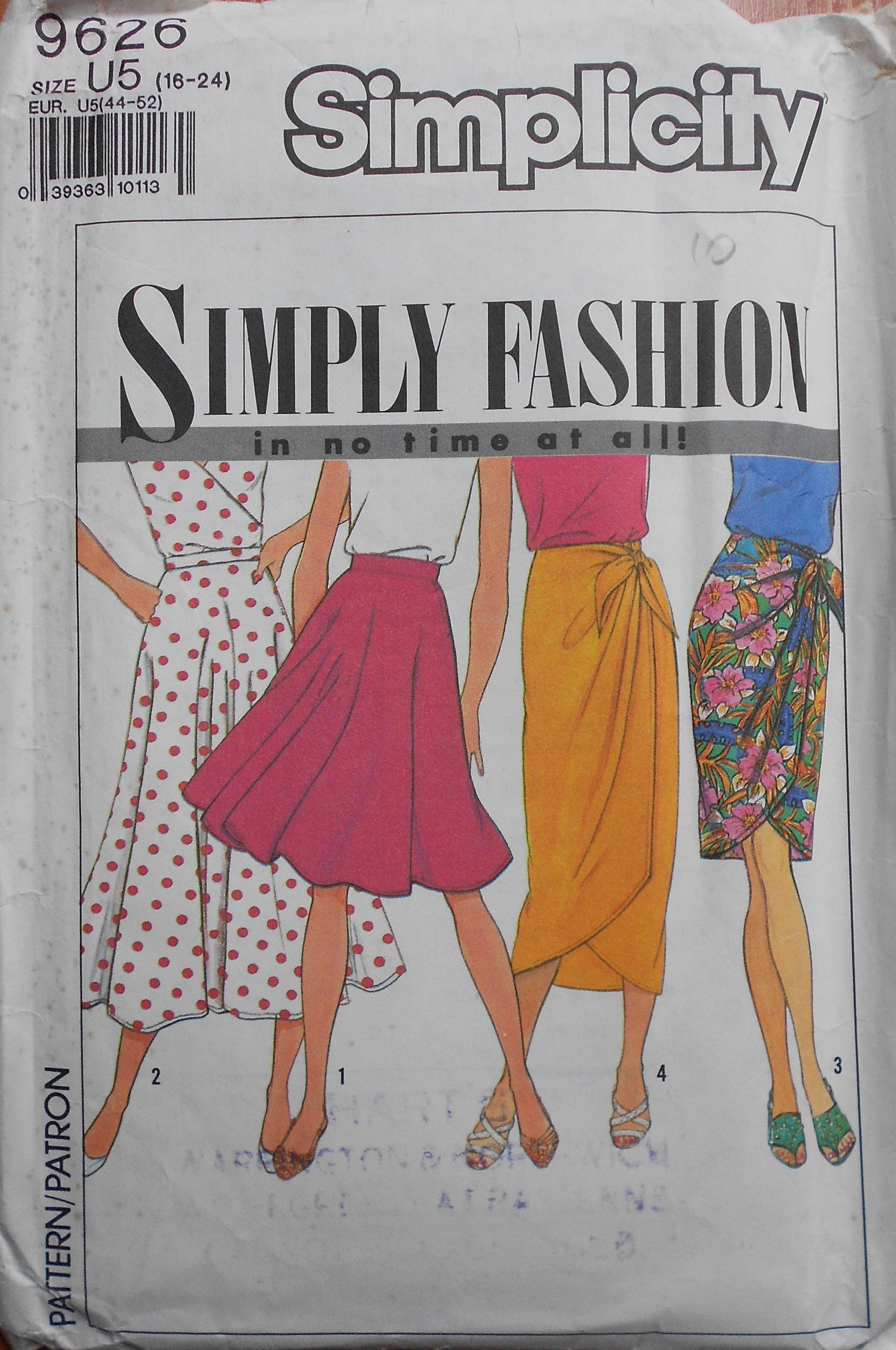 Simplicity 9626 A
