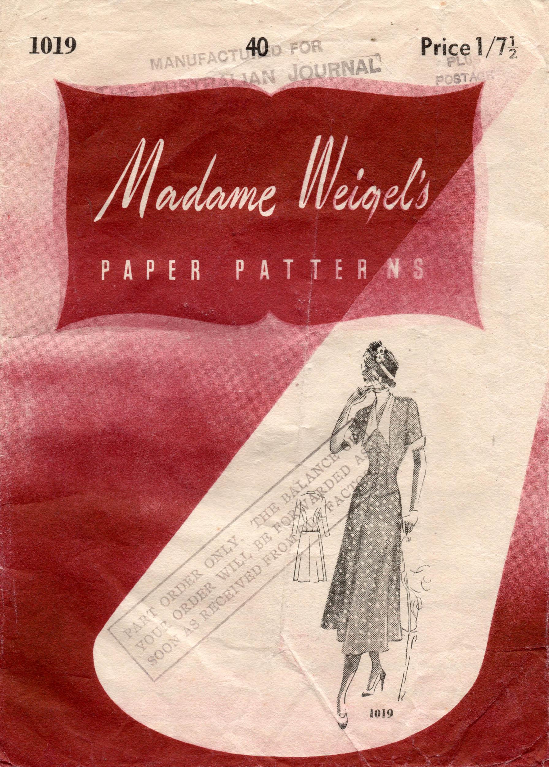 Madame Weigel's 1019