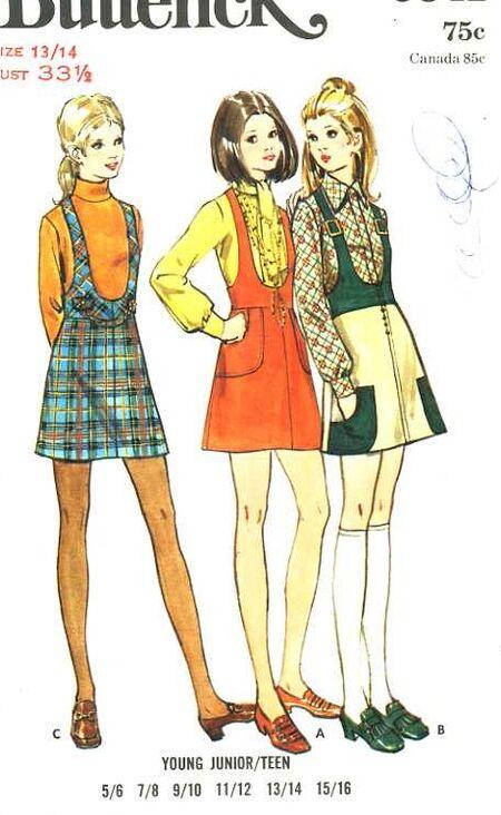1960's Butterick 5841 sewing pattern