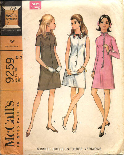 McCall's 9259 A Misses' Dress in Three Versions