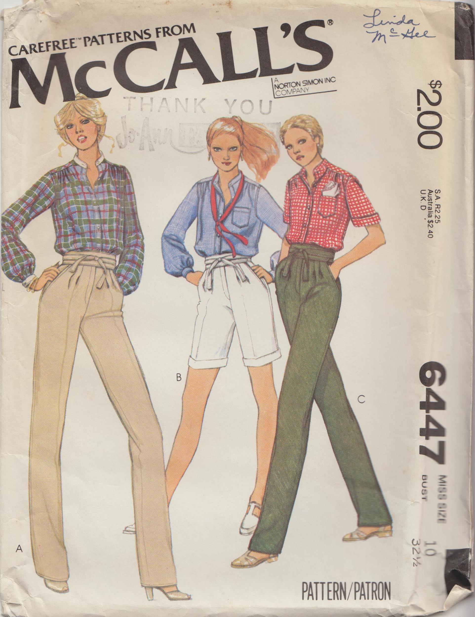 McCall's 6447