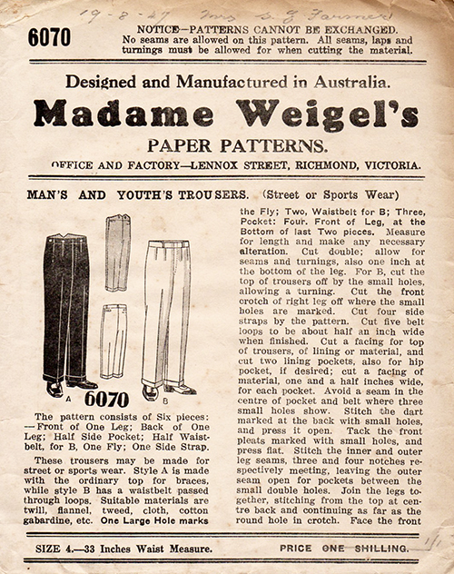 Madame Weigel's 6070