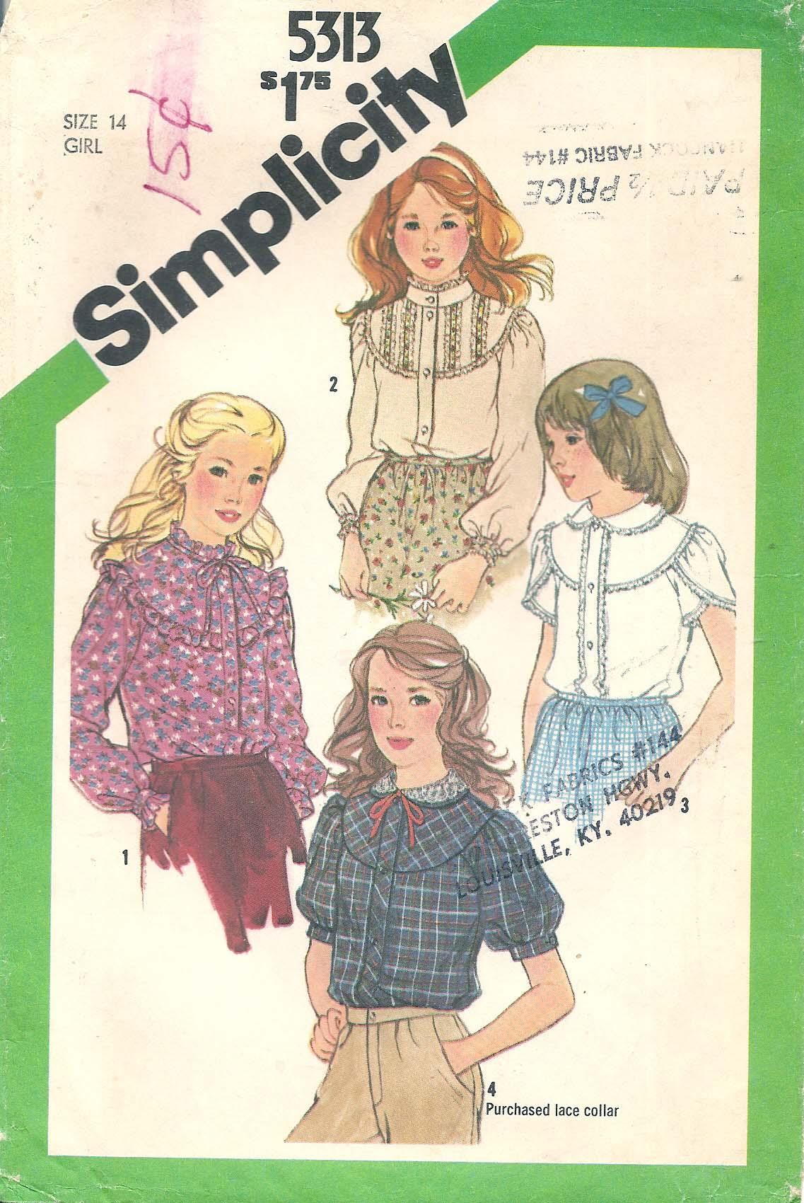 Simplicity 5313 B