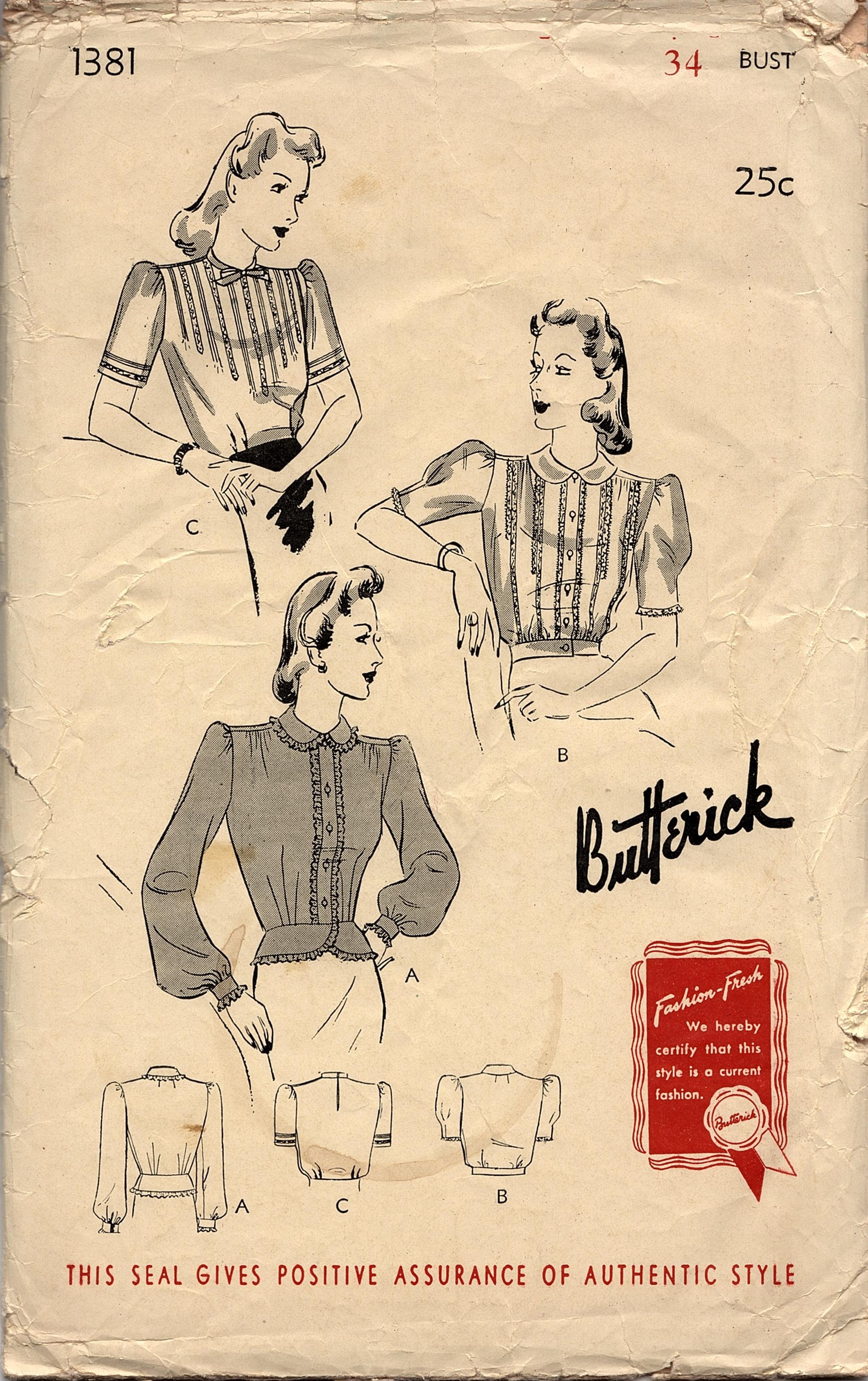 Butterick 1381