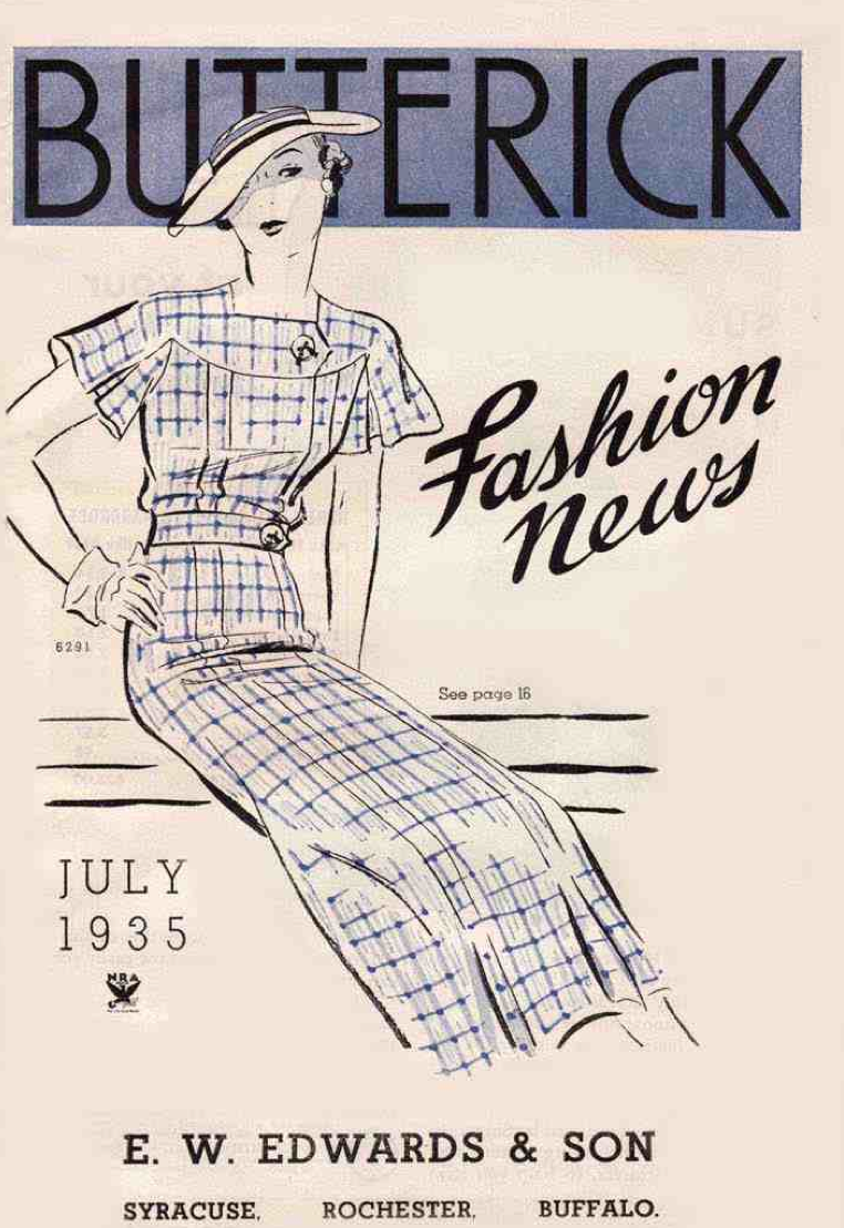 Butterick Fashion News July 1935