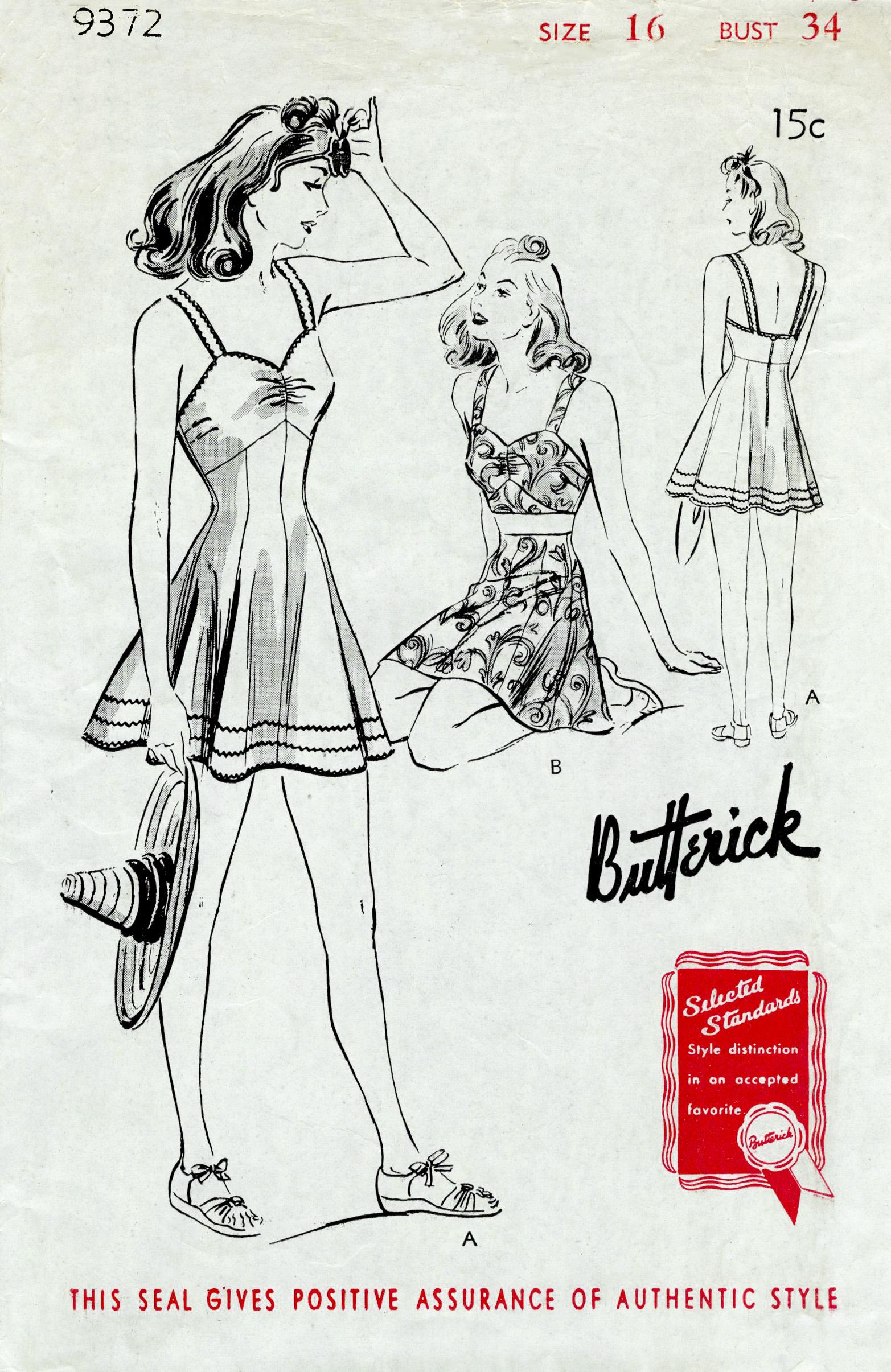 Butterick 9372 A