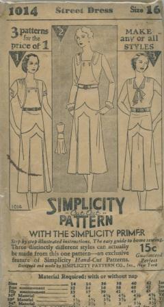 Simplicity 1014 B