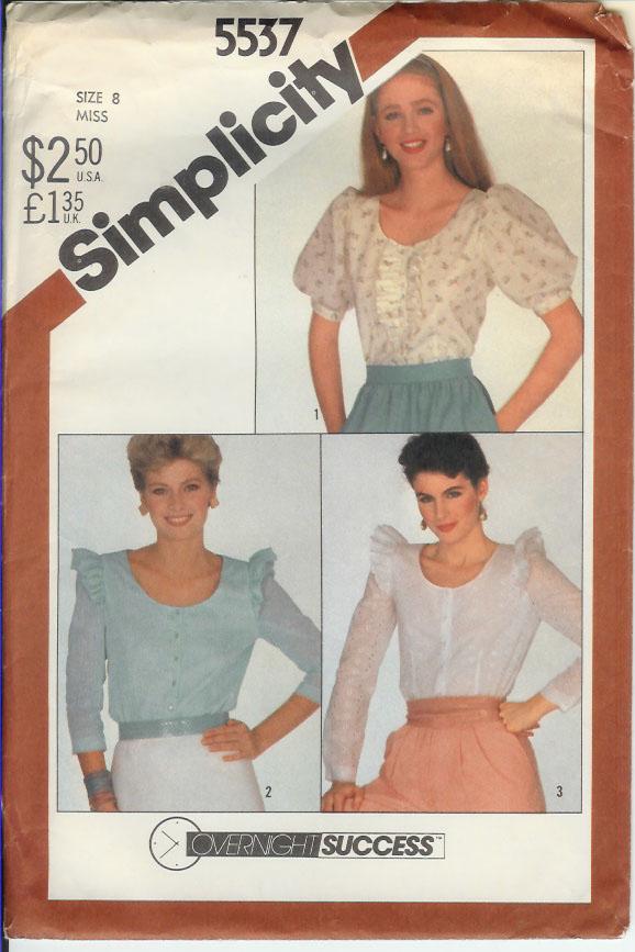 Simplicity 5537 A