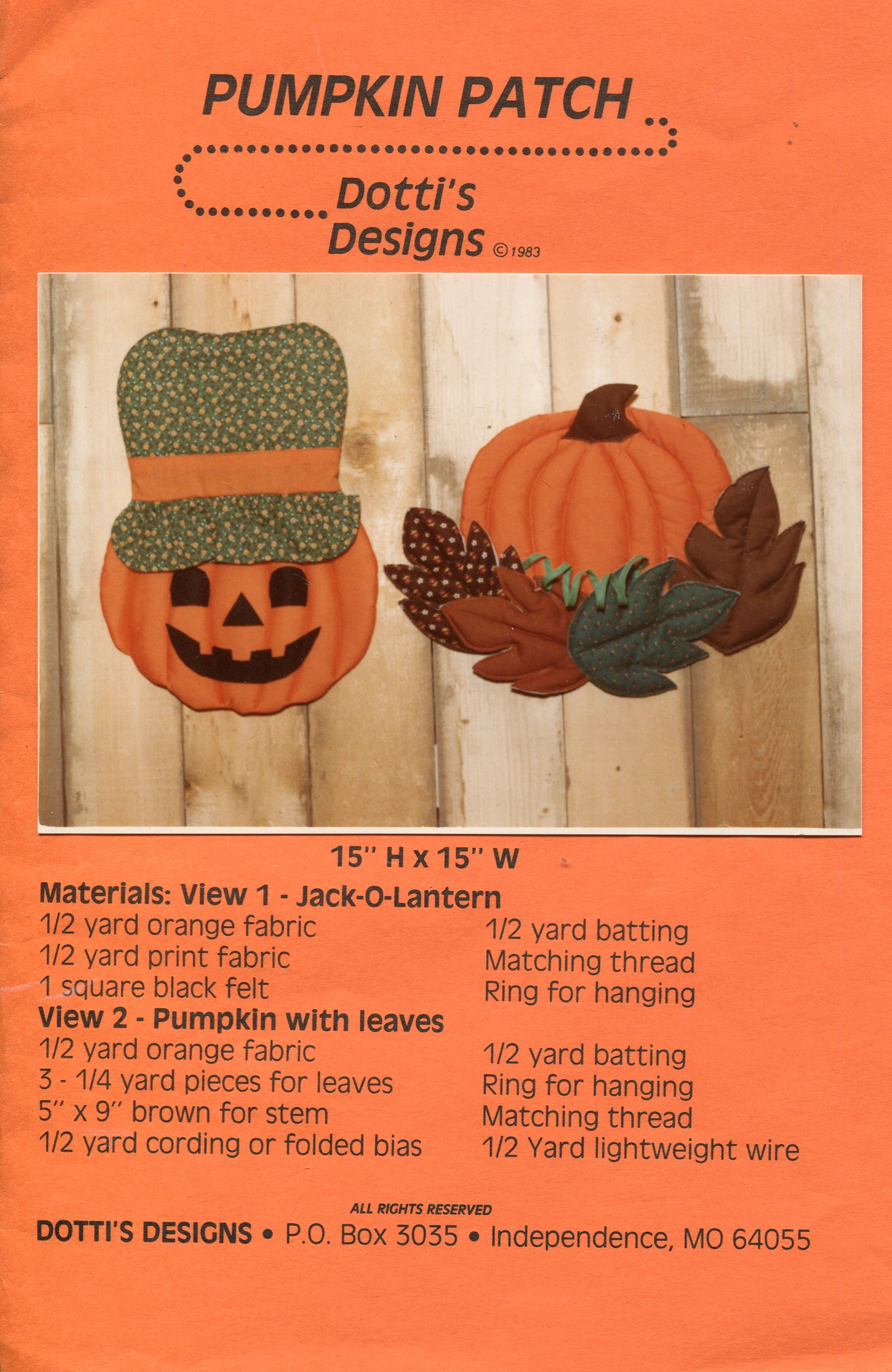 Dotti's Designs Pumpkin Patch