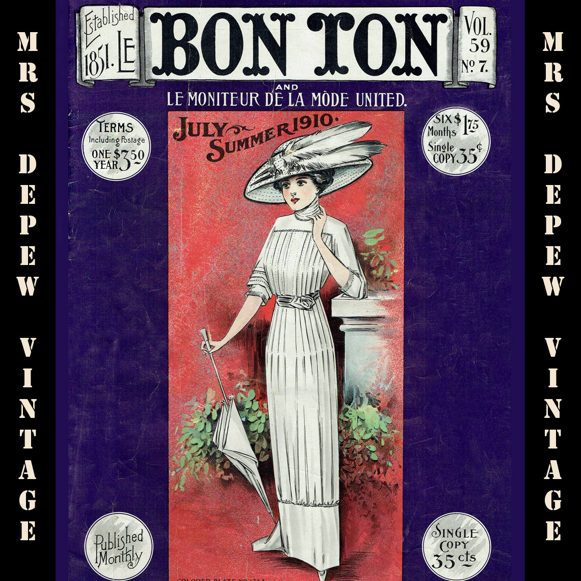 Le Bon Ton July Summer 1910