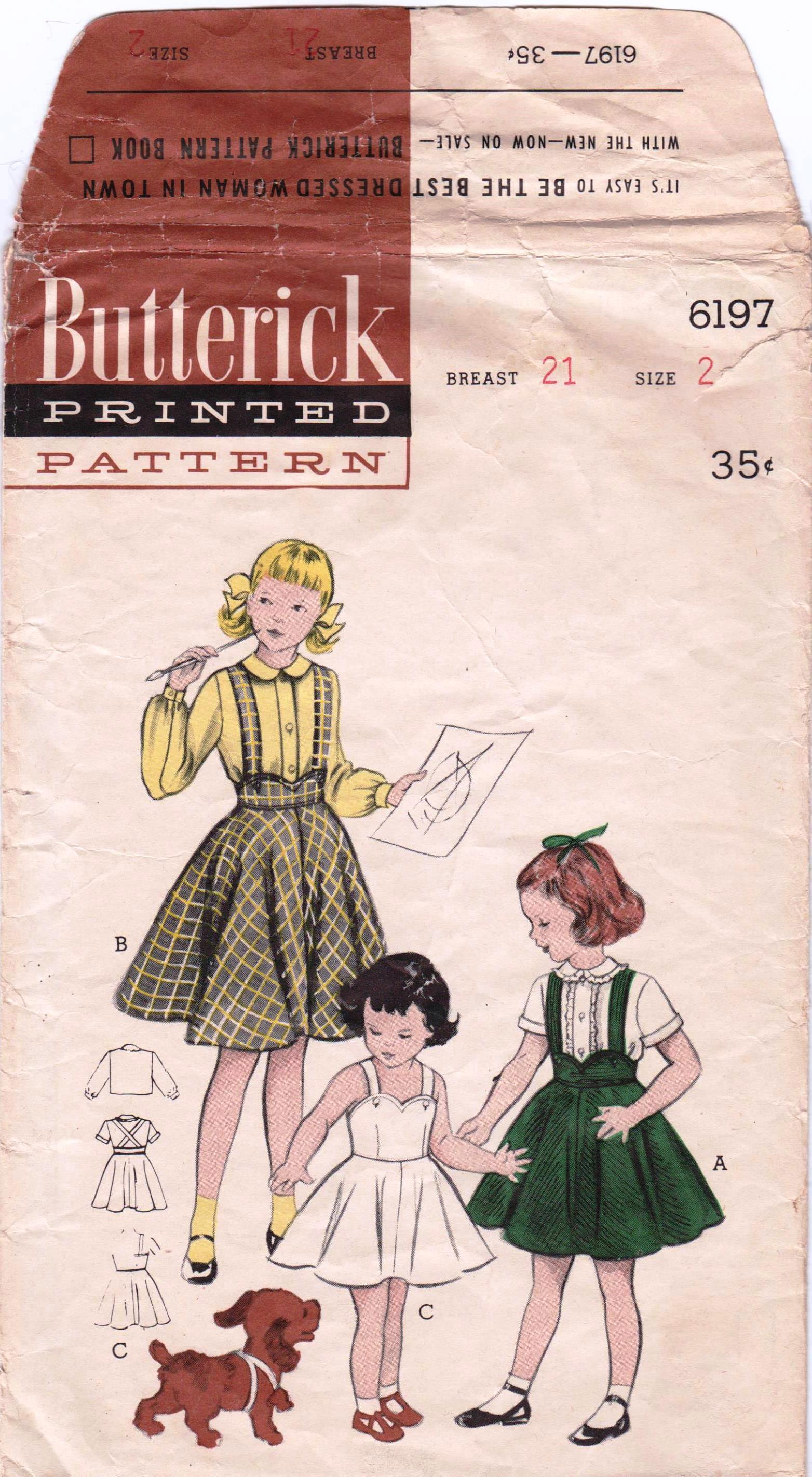 Butterick 6197 A
