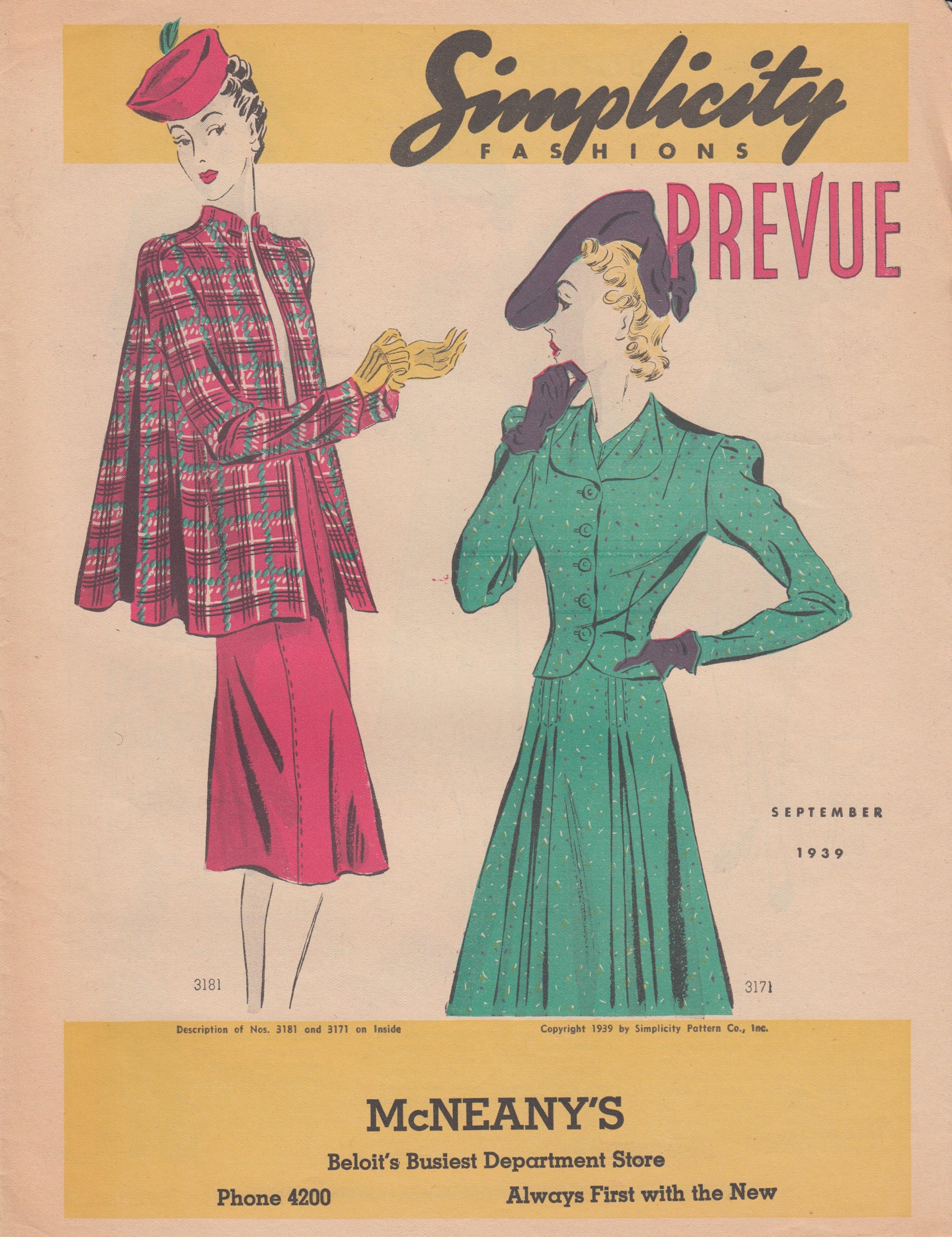 Simplicity Prevue September 1939