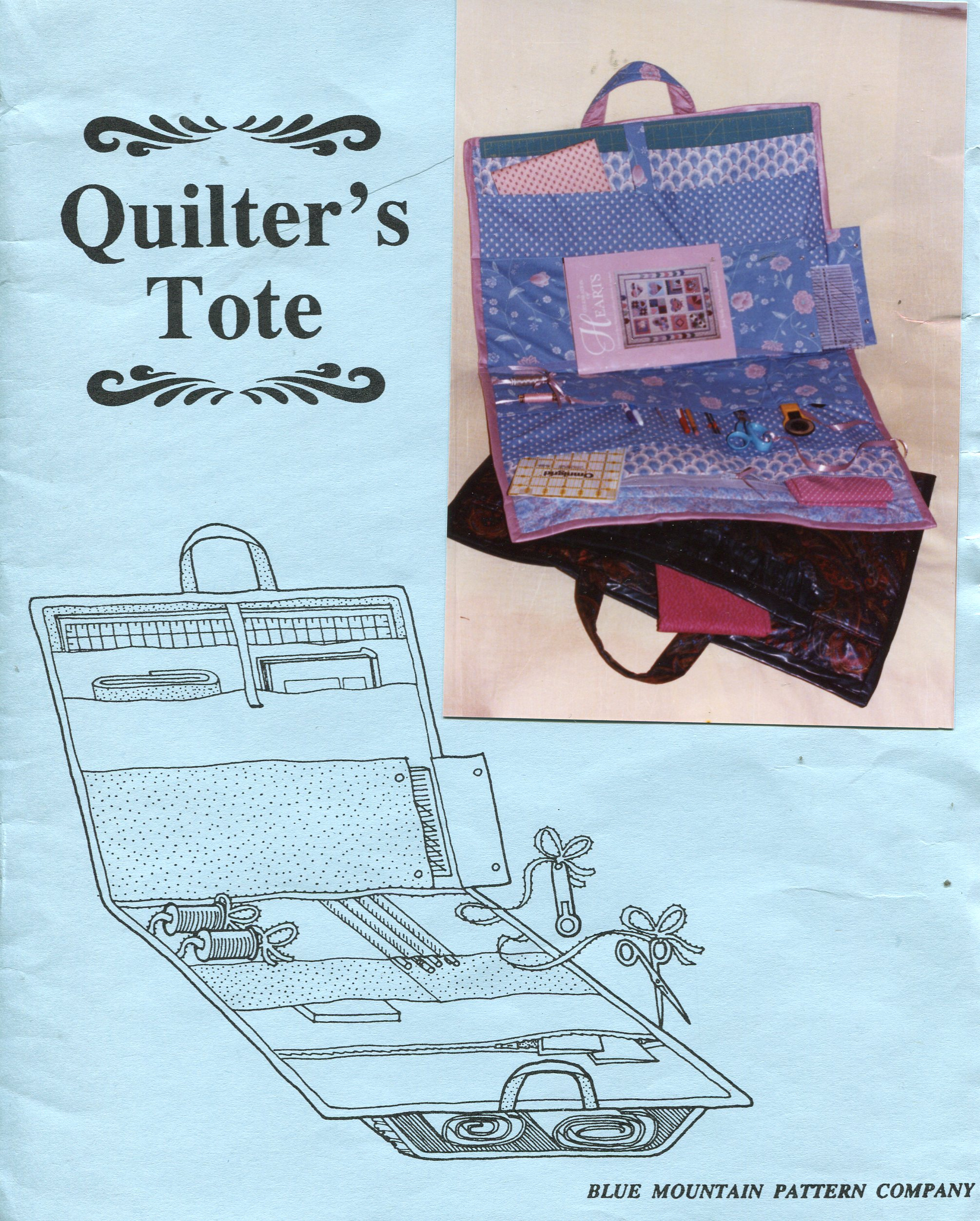 Blue Mountain Quilter's Tote