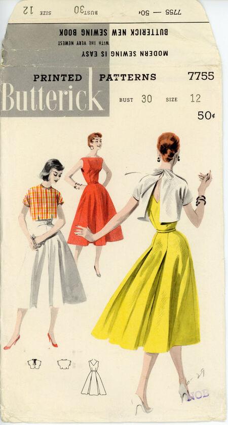 Butterick 7755 Sundress and Back-Tie Jacket