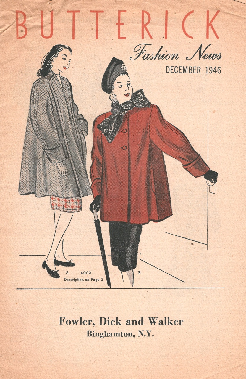 Butterick Fashion News December 1946