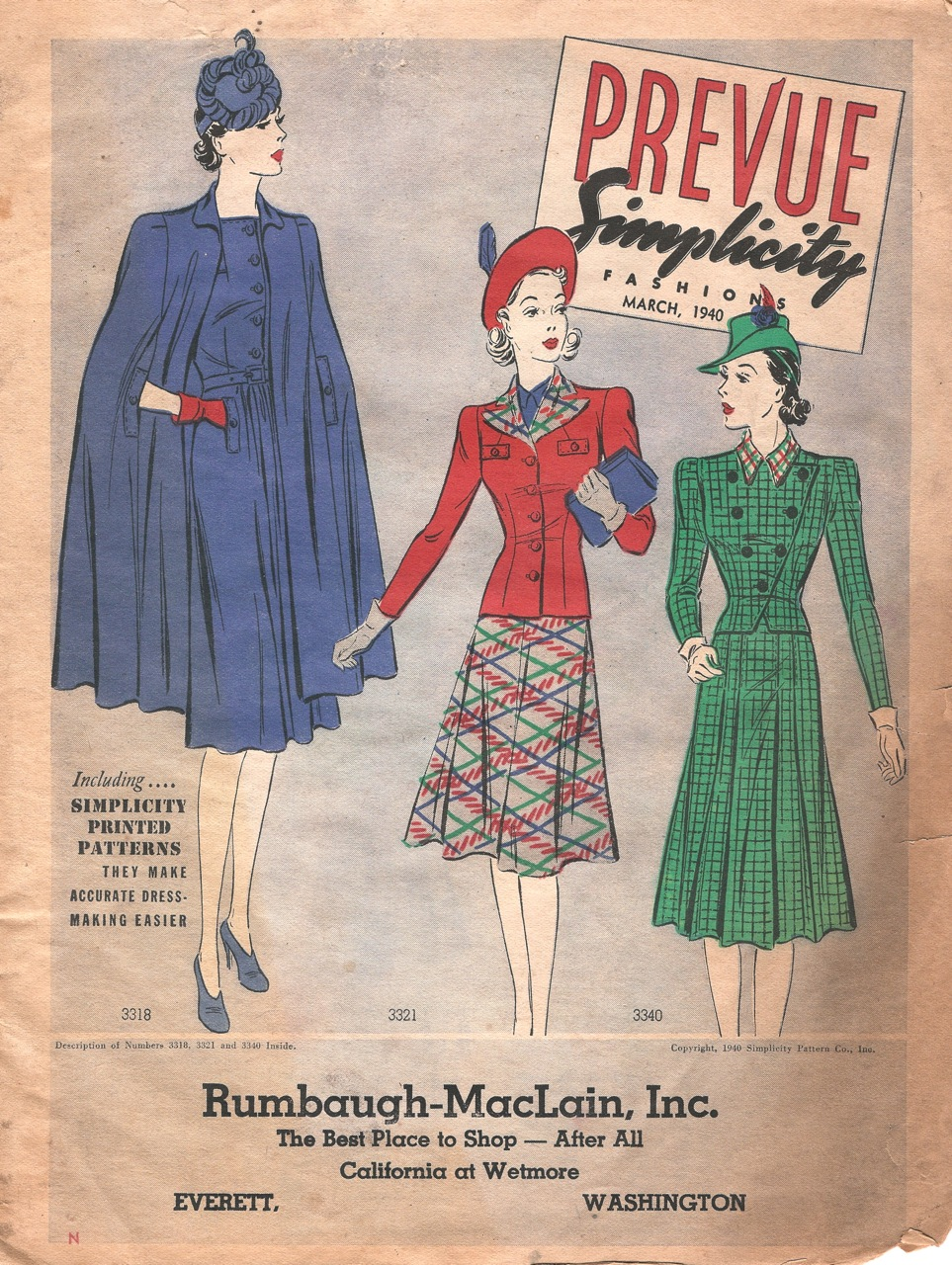 Simplicity Prevue March 1940