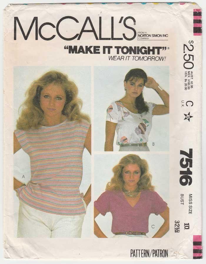 McCall's 7516 A