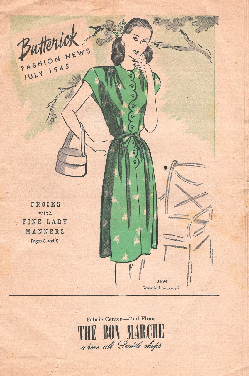 Butterick Fashion News July 1945