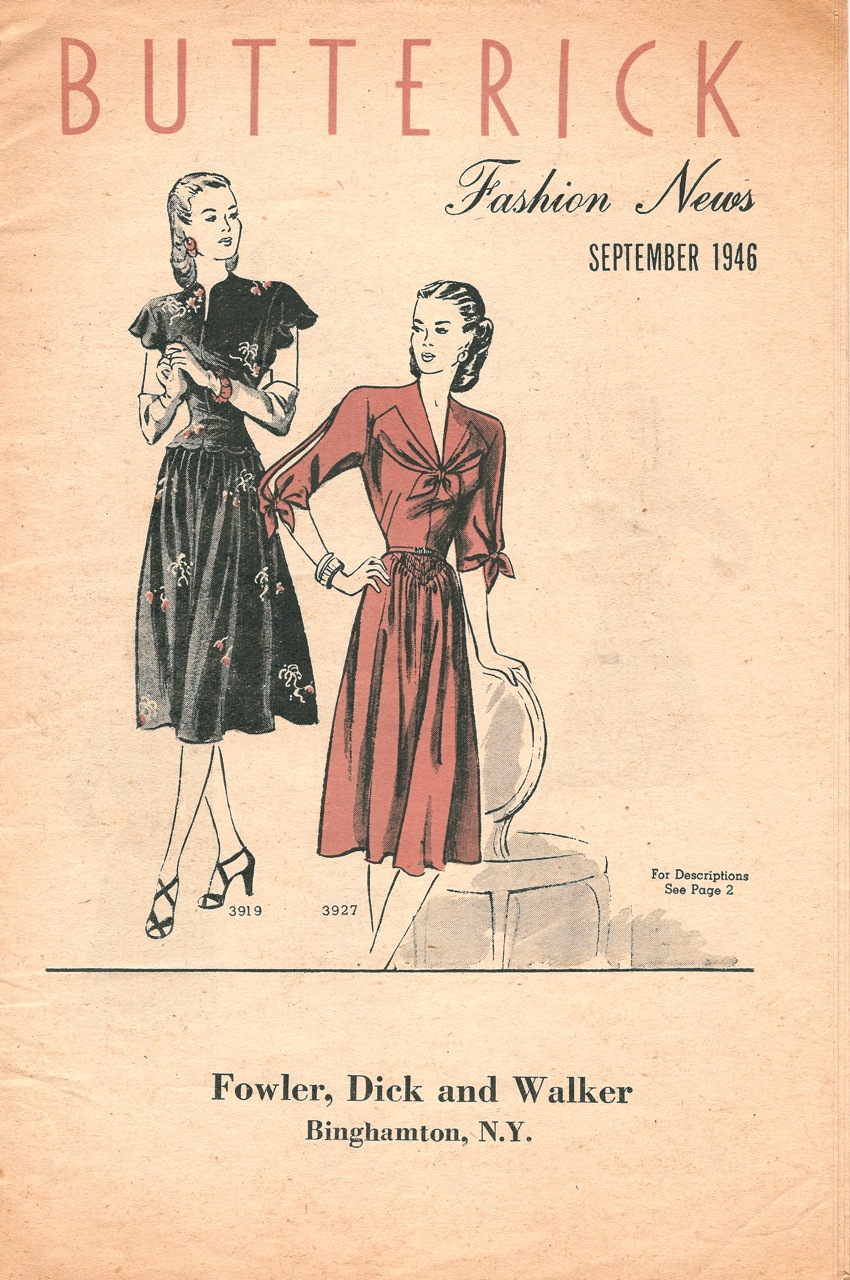 Butterick Fashion News September 1946